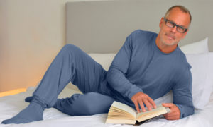 Bamboo Bubby PJs for Adults in Midnight Blue
