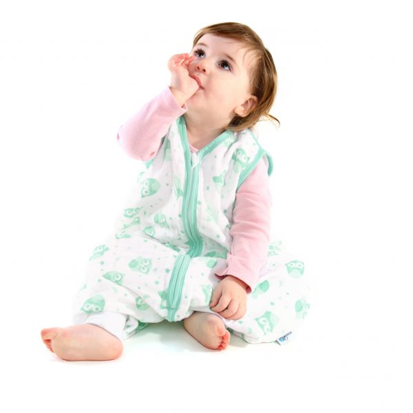 Lifestyle Image - Muslin Mint Owl with Feet