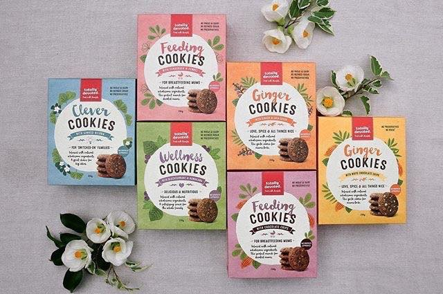 The Yummy Mummy Food Company Cookies Range.