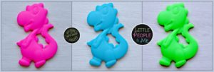 Little People and Me - BPA Free Food Grade Silicone Jewellery and Teethers - Dinosaur Teether Collage