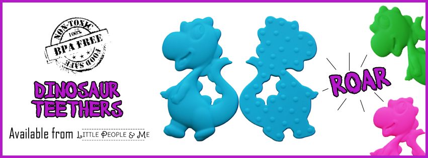 Dinosaur Teether Ad - Facebook Cover (available at Little People and Me)