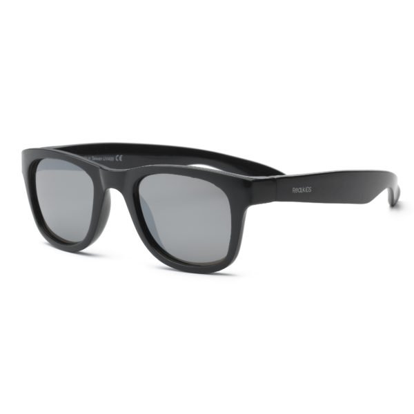 Real Kids Shades - Surf - Black with Silver Mirror Lens