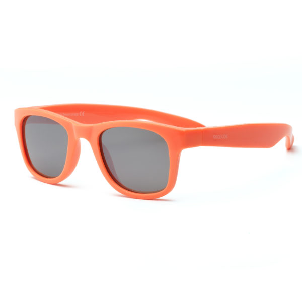 Real Kids Shades - Surf - Neon Orange with Silver Mirror Lens