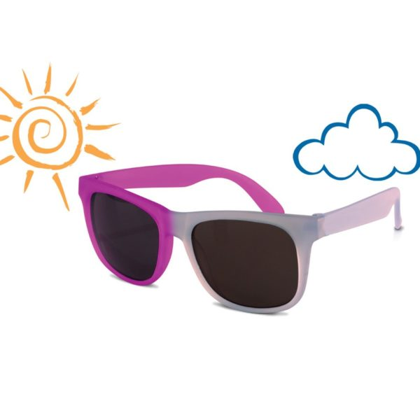 Real Kids Shades - Switch - Light Blue-Purple with PC Smoke Lens - Sunny-Cloudy