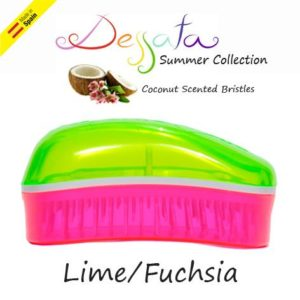 Dessata Detangling Brush - Summer Mini Collection Lime-Fuchsia 002