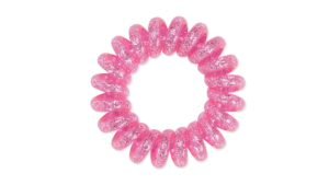 Dessata No Pulling Hair Ties - Metallic Fuchsia Glitter 004
