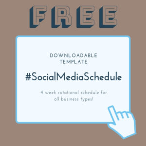 Social Media 4 week rotational schedule TEMPLATE